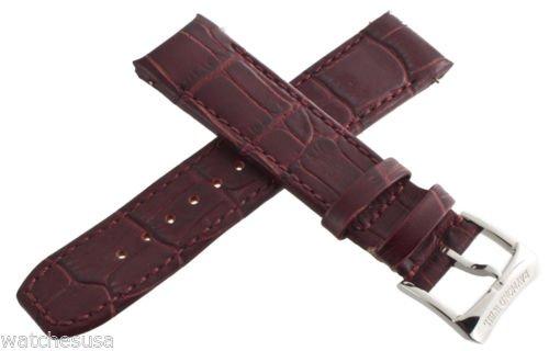 Genuine Raymond Weil 20mm burgund Damen Leder Uhrenarmband 5590