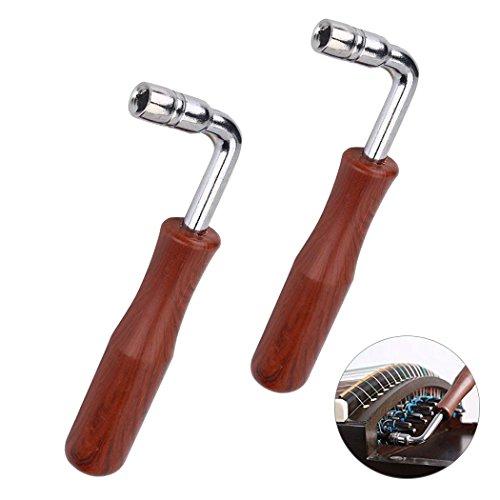 Piano Tuner Tuning Wrench Stimmschluessel, Klavier Stimmhammer Hartholz Griff Klavierstimmer Tool, hochwertige Tuning Hammer Tuner Schraubenschlüssel Werkzeug - Quadrilateral