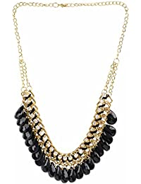 Efulgenz Designer Gold Plated Fancy Party Wear Statement Necklace For Girls And Women