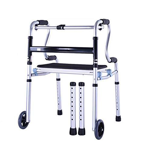 GAOLI Poulie De Réadaptation Handicapée pour Personnes Âgées Walker avec Siège Assist Walker Réglable Pliable