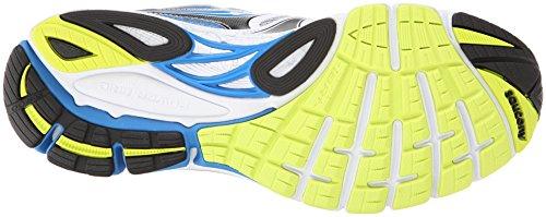 Saucony Guide 8, Chaussures Homme, Rouge Blanc/Bleue/Citron