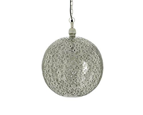 Emporio Arts lzc-1679 ch-n paon Etching Lampe à suspension, fer, Nickel, E27, 40 Watts