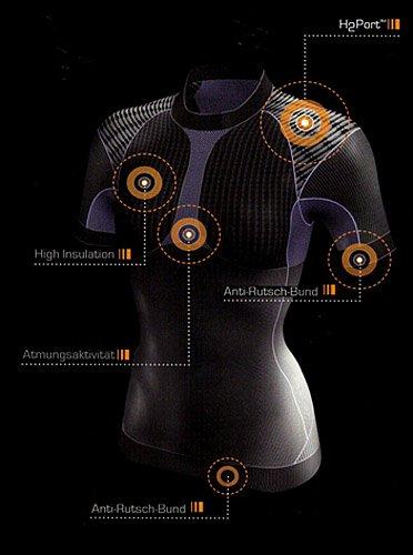 Femme cyclisme Vélo Fonction T-shirt manches courtes h2port? fonctionnelle Bike Wear Noir - Noir