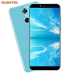 Cheap Mobile Phones, OUKITEL C8 5.5 inch (18:9 Aspect Ratio Full Vision) Android 7.0 3G Dual SIM Unlocked Smartphone Quad Core 5MP+13MP Camera 2GB RAM 16GB ROM 3000mAh Battery Fingerprint cell phones
