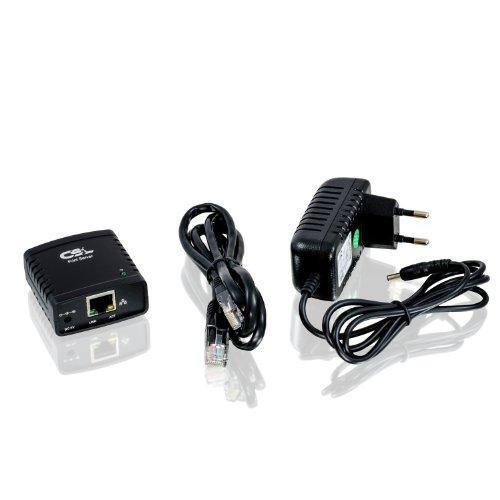 CSL - Serveur d'impression (printserver) C190 (nouveau modèle) Fast Ethernet | Windows 10 | PC et MAC | 1x USB 2.0 10/100Mo/ LPR | Serveur d'impression