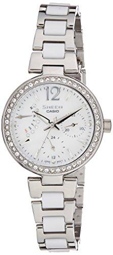 41Hyhb63UNL - Casio Sheen Silver Women SHE 3042D 7AUDR watch