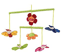 sigikid, Mädchen und Jungen, Mobile mit bunten Schmetterlingen, Grün/Bunt, 49421