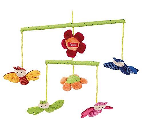 sigikid, Mädchen und Jungen, Mobile mit bunten Schmetterlingen, Grün/Bunt, 49421 (Baumwolle Stoff Elemente)