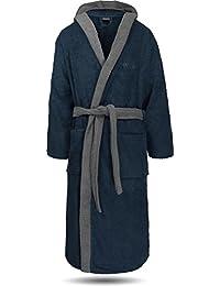 normani 100% Baumwoll Bademantel Saunamantel zweifarbig und einfarbig mit und ohne Kapuze für Damen und Herren [Gr. XS - 4XL]