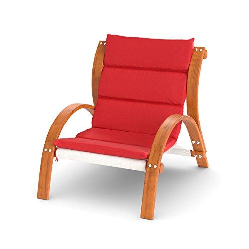 Ampel 24 Lounge Sessel Malibu | Auflage Rot | Gartenmöbel Wetterfest mit Armlehne | Loungemöbel...