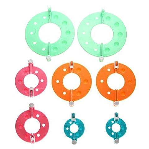TinkSky 8pcs 4 tailles indispensable pompon Maker peluches boule Weaver DIY Needle Craft Tool Kit (couleur aléatoire)