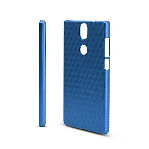 KuGi Umidigi Umi Crystal Hülle, Hochwertiger ultradünne Frosted [Stoßfest][Anti-Scratch][Schlank Passen][Anti - Wrestling] PC Schutzhülle Hülle für Umidigi Umi Crystal Smartphone.Blau