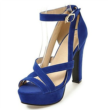 LvYuan Sandali-Formale Casual Serata e festa-Comoda Innovativo-Quadrato-Felpato Materiali personalizzati-Nero Blu Rosso Beige Blue