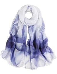 de02b3a66efa3 Seidenschals Damen 100% Seiden Schal Elegante Seidentuch Hohe Qualität  Hautfreundlich Anti-Allergie…