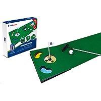 PGA Tour Tapis de maison et de bureau pour entraînement au putt, avec putter rétractable