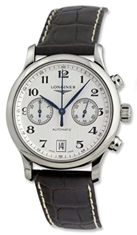 Longines Master Collection Mens Silver Dial Automatic Chronograph Watch L26694785