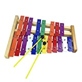 Orff World Professional 20 Tone Metal Bunte Xylophon Percussion Musikinstrument Kinder Frühes Musiklernen