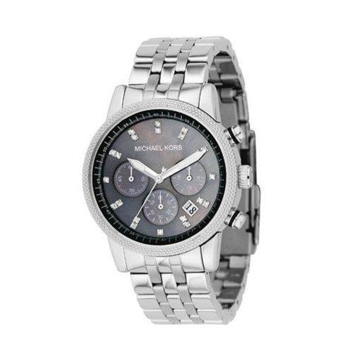 Michael Kors Fashion MK5021 - Reloj cronógrafo de cuarzo para mujer, correa de acero inoxidable color plateado (cronómetro)