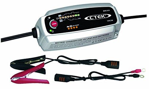 CTEK MXS 5.0 Autobatterie-Ladegerät mit automatischem Temperaturausgleich, 12 V