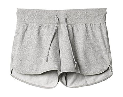 adidas Damen ESS Shorts, Grau, M, 4055344536223