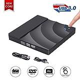 Lecteur CD DVD Externe, ShangQia Lecteur Graveur CD/DVD-RW USB 3.0, Driver...