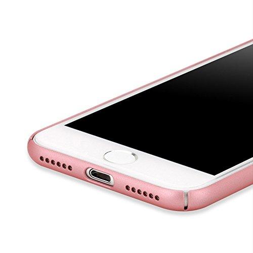 Coque pour Apple iPhone 7, Aohro Ultra-Thin Scratch Resistant Case Cover Skin Shell PC Dur edge couverture supérieure Housse Etui de Protection, Or Rose