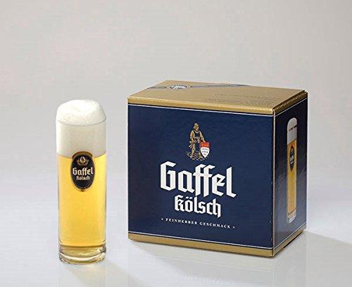 Gaffel Kölschstangen 0,2 l 6er Set ohne Goldrand im Geschenkkarton