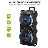 ZRMVV Enceinte Sono Portable - Enceinte Karaoké Bluetooth sans Fils,Haut Parleur avec Micro et Lecteur MP3 (USB/TF/AUX/Batterie Longue durée)