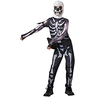 Rubie's - 300194 - Skull Trooper Déguisement - Mixte Enfant - Multicolore (noir/blanc) - S (140 cm)
