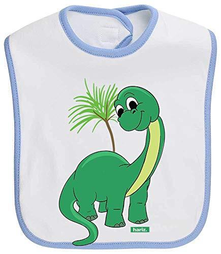 HARIZ Baby Lätzchen Kontrast Dinosaurier Langer Hals Süß Tiere Dschungel Plus Geschenkkarten Weiß Himmel Hell Blau -