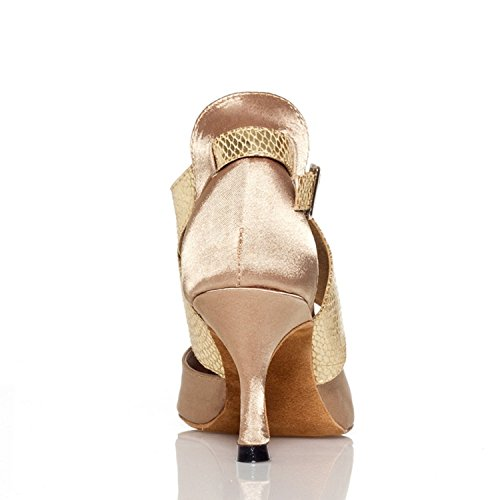 Chevillière Minitoo Ladies Chaussures de danse Satin Stage latine Beige - beige