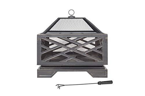 58236 Feuerstelle mit Grillrost, Stahl, Bronze-Effekt ()