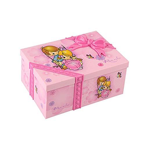 Saim Rechteck Dream Girl Musik Box Märchen Kinder Musikalische Schmuck Box mit Pink Ballerina ALICE IM WUNDERLAND-Musicl Toys - Musikalische Schmuck-box
