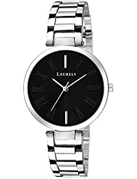 Laurels Alice II Black Dial Women Watch