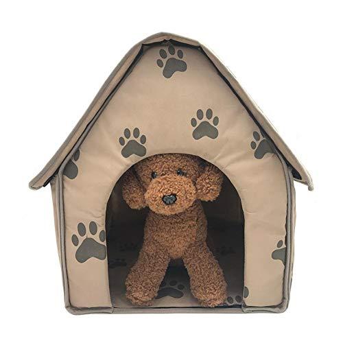 Poetryer pet house bed dog nest staccabile pieghevole paw modello morbido, caldo e comodo cuscino peluche caldo portatile casa per cane, gatto, coniglio
