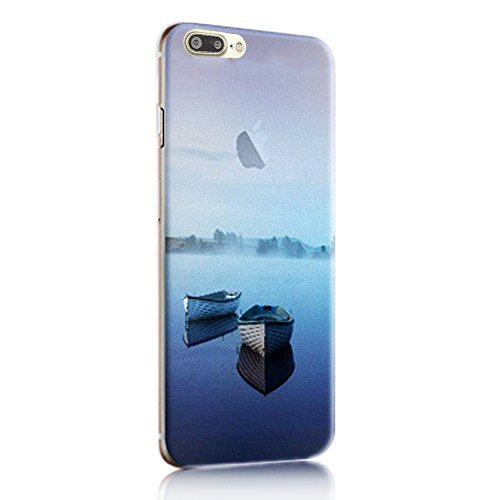 Coque iPhone 8 Plus Silicone TPU Coque de Protection pour iPhone 8 Plus Paysage Créatif Souple Motif Landscape Etui Housse de Protection, Sunroyal Premium Ultra Mince Case Cover Bumper pour iPhone 8 P Paysage 31