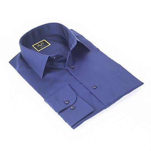 V1969 - Herren HEMD mit seinem Gift Box, Bügelleicht , custom fit Navy Blau