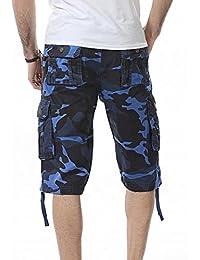 VENMO Männer Casual Camouflage Tasche Strand Arbeit Kurze Hosen Cargo Shorts  Pant Herren Chino Shorts Bermuda Kurze Hose… 82e9411179