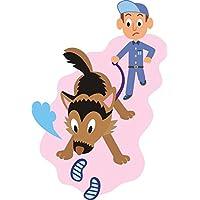 INDIGOS UG MD337 Tatuaggio Murale Bloodhound 96 x 65 cm, Multicolore