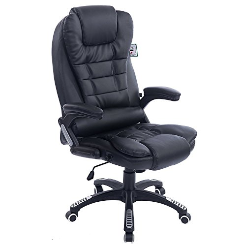 Executive Recline Extra Padded Office Chair (Standard, Black)
