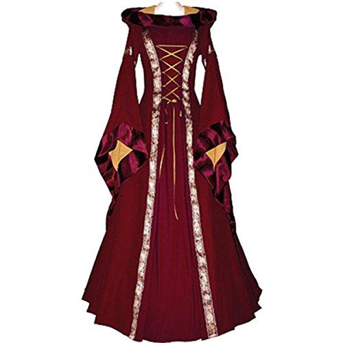 Kostüm als Dame der Renaissance für Erwachsene Hood Damen Kostüm Kleid (Dornröschen Erwachsene Kostüme)