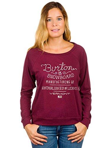 Burton Damen T-Shirt Hndscrpt Longsleeve SLCHY Zinfandel