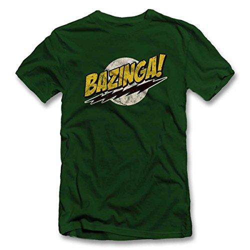 Bazinga 03 Vintage T Shirt T-Shirt Dunkelgruen-Dark-Green L -