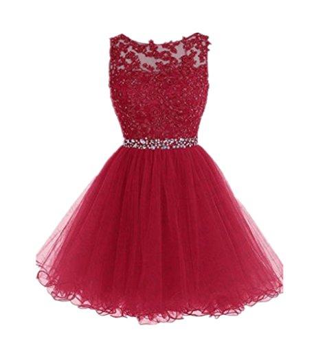 Drasawee - Robe - Trapèze - Femme Rouge - Rouge
