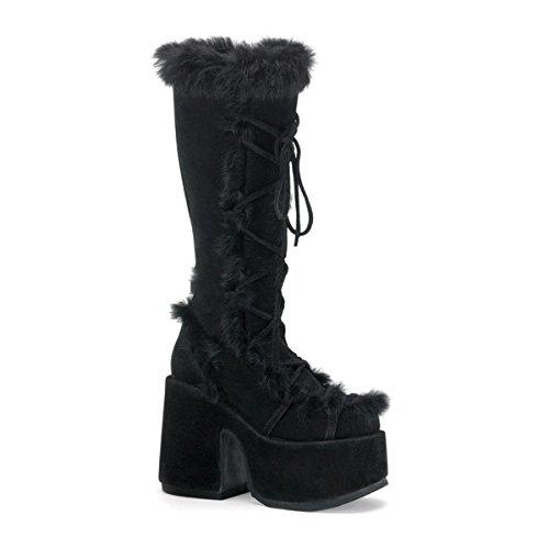 Demonia Camel-311 - Gothic Punk Industrial Plateau Stiefel Schuhe 36-43, Größe:EU-38 / US-8 / UK-5