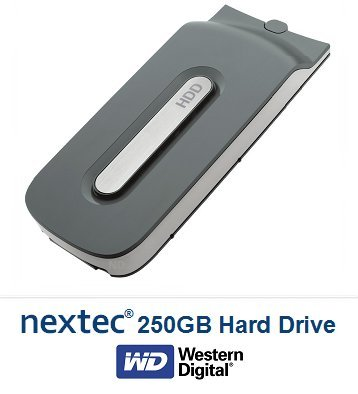 Nuovo - Xbox 360 Slim (250 GB) Hard Disk per Microsoft Xbox 360 Slim Console Xbox 360 HDD FAT (250GB)