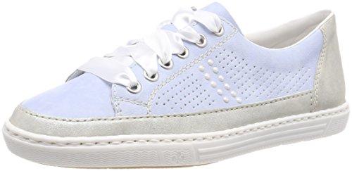 Rieker Damen L09A5 Sneaker, Blau (Grey/Sky), 39 EU
