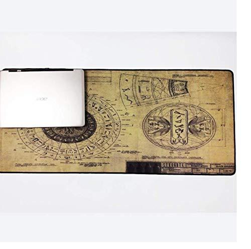 Zeichnungen Stil Muster Mousepad Mäuse Matte Pad Overlock Rand Große Größe Für Dekorative Desktop 40X80 Cm - Zeichnung Dekorative Pad