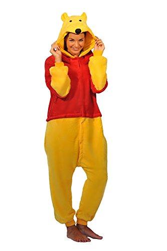 Winnie The Pooh Piglet Eeyore Donkey Esel Tigger Tiger Känguru Onesie Kigurumi Pyjama Karneval Kostüm Maskenkostüm Kapuzenpulli Schlafanzüge Winnie The Pooh, XL(Height 180cm-190cm) (Pooh Und Tigger Kostüm)