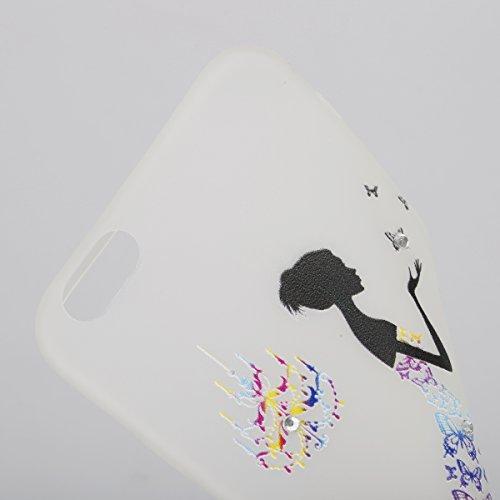 Coque Housse Etui pour iPhone 6 Plus/6S Plus, iPhone 6S Plus Coque en Silcone avec Bling Diamant, iPhone 6 Plus Coque Noctilucent Souple Slim Etui Housse, iPhone 6 Plus/6S Plus Silicone Case Soft Gel  jupe Nabi